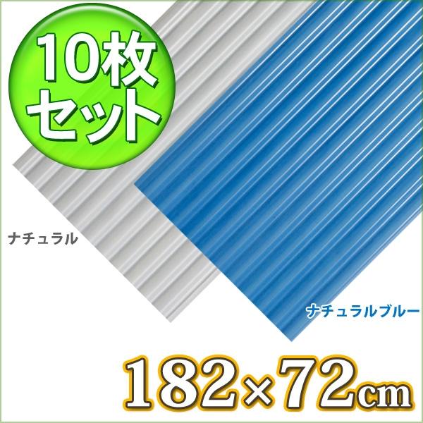 【10枚セット】波板NIPVC61Tナチュラル・ナチュラルブルー【アイリスオーヤマ】