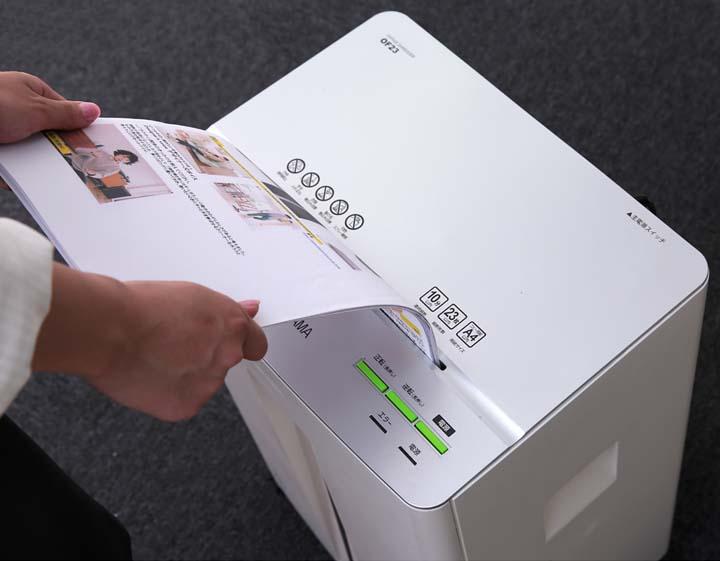 シュレッダー業務用電動クロスカットオフィスシュレッダーOF23A423枚オフィス用事務用品シュレッダーキャスター付き事務所会社アイリスオーヤマ人気クロスカットキャスター付き大容量安心安全裁断細断iris60th
