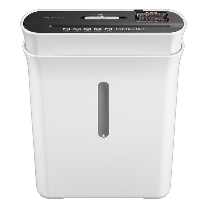 シュレッダー 家庭用 電動 マイクロクロスカット P3GM 細密シュレッダー A4用紙 3枚 パーソナルシュレッダー オフィスシュレッダー 小型 安心 安全 アイリスオーヤマ ホワイト スリム 裁断 細断 人気 オシャレ