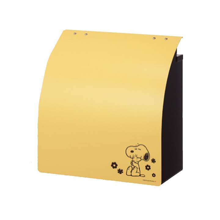 【送料無料】【ポスト 郵便受け】スヌーピー ウイングポスト【郵便ポスト メールボックス 郵便BOX スヌーピー】 SPポストW-3A マスタード【TD】【丸三】【代引不可】