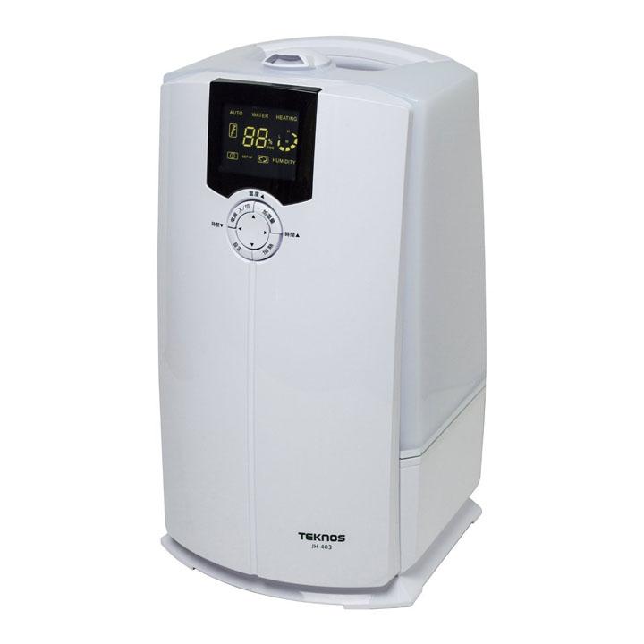 加湿器 加湿 ハイブリット加湿器 4L ホワイト【湿気 潤い 加湿機】TEKNOS JH-403・ホワイト【D】