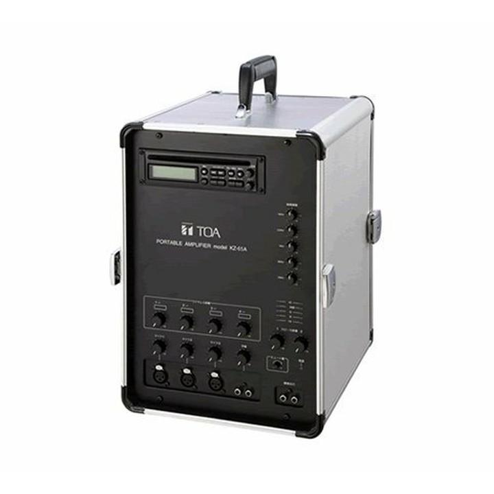 移動用PAアンプ 65W×2ch CD付 外:シルバー 中:ブラック KZ-65A送料無料 アンプ 移動用 PA スピーカー アンプPA アンプスピーカー 移動用PA PAアンプ スピーカーアンプ PA移動用 TOA TC