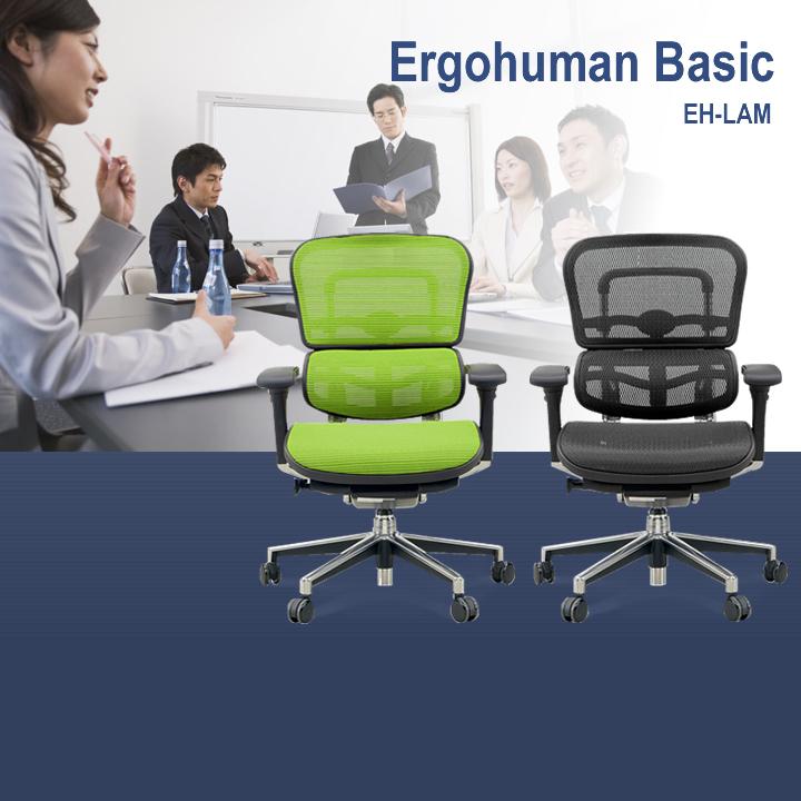 【送料無料】オフィスチェア エルゴヒューマン ベーシック ロータイプ EH-LAM Ergohuman パソコンチェア PCチェア デスクチェア ミドル 椅子 いす イス 高性能 ハイスペック 【B】【TD】【代引不可】
