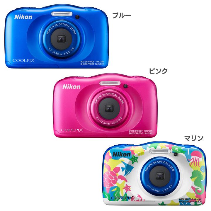COOLPIX W100BL送料無料 デジタルカメラ カメラ 写真 デジカメ ニコン ブルー・ピンク・マリン【D】