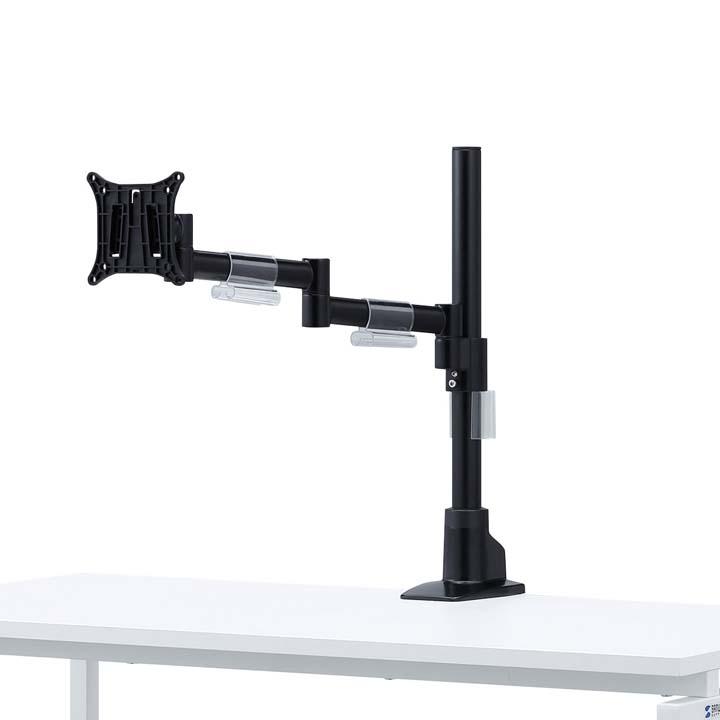 水平多関節液晶モニタアーム(1面) CR-LA1501BK送料無料 モニター ディスプレイ スタンド 設置 ブラック パーツ 取り付け 上下左右 オフィス サンワサプライ 【TD】 【代引不可】