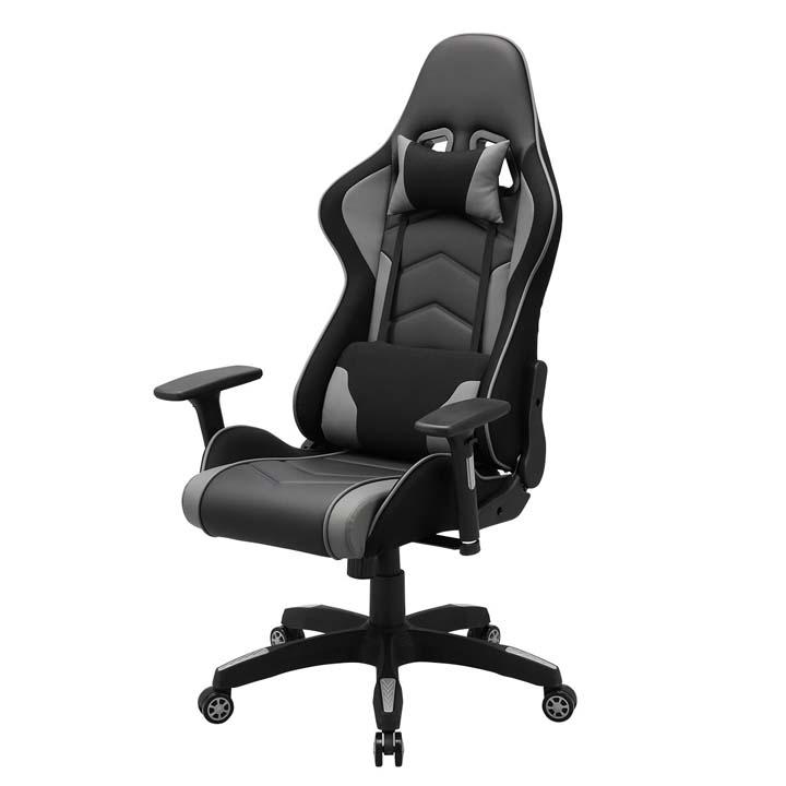 ゲーミングチェア SNC-L18GY送料無料 PCチェア パソコンチェア 椅子 リクライニング チェアー イス ハイバック オフィスチェア ブラック サンワサプライ 【TD】 【代引不可】
