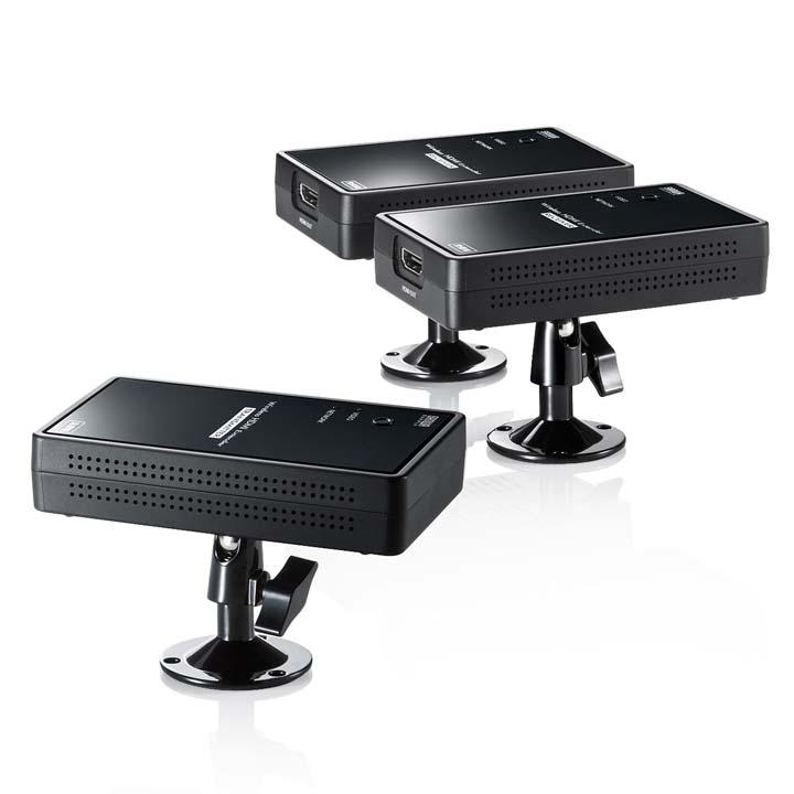 ワイヤレス分配HDMIエクステンダー(2分配) VGA-EXWHD7送料無料 ディスプレイエクステンダー HDMI 無線 プロジェクター 分配 ディスプレイ サンワサプライ 【TD】 【代引不可】