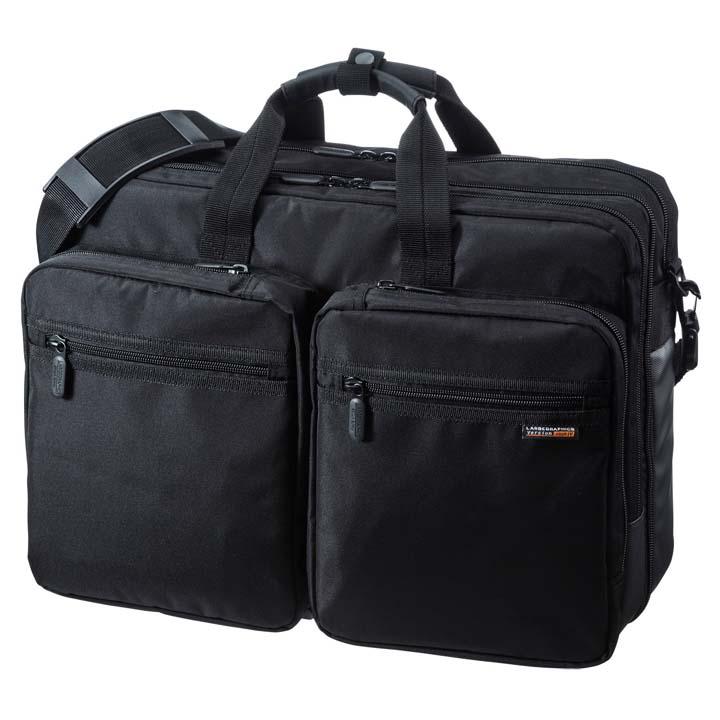 3WAYビジネスバッグ(出張用・大型) BAG-3WAY22BK送料無料 鞄 かばん リュック PC サンワサプライ 【TD】 【代引不可】