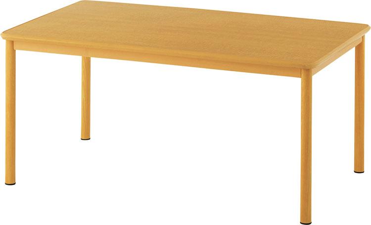 介護用テーブル W1500×D900 ナチュラル RFKTB-1590NA送料無料 高さ74cm 幅150 ダイニングテーブル 水に強い キズに強い 調整可能 会社 公共 介護 アール・エフ・ヤマカワ 【TD】 【代引不可】