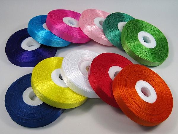 NEW ARRIVAL ラッピングや装飾に便利な 布リボンテープです コハクリボン 12mm 全国どこでも送料無料 布リボンテープ