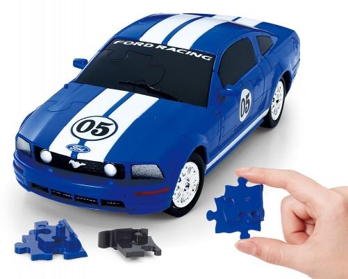 到整车的实际组装三个三维拼图贝弗利益智 3D 野马 /FR500C