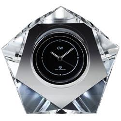 【オンリーワンギフト 最高級電波時計】クリスタルの輝きと透明感 光を屈折させる重量感 グラスワークス電波時計・マクロス