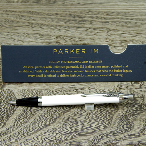 Bon A Sleek And Elegant Design To Upgrade! Functional And Modern Design With  Popular Collection ☆ Parker IM White CT Ball Pen