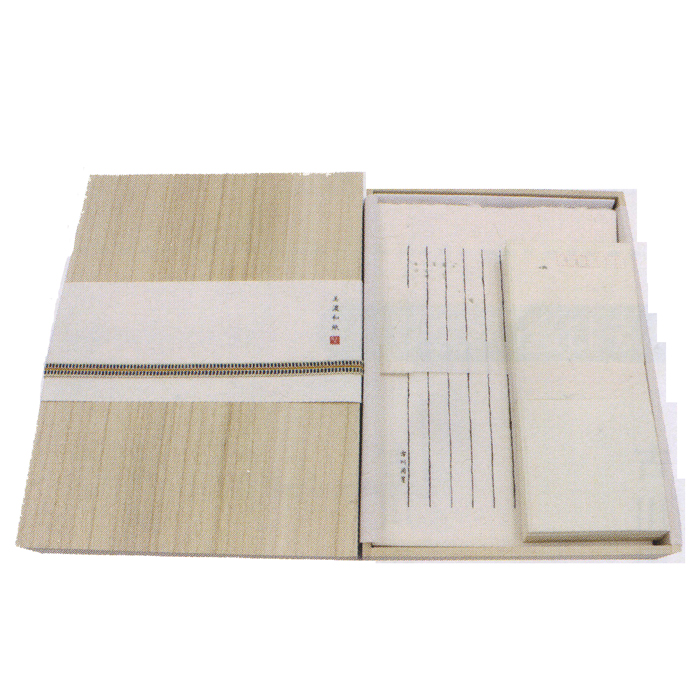 L003 古川紙工 美濃和紙名入れ便箋 美濃雁皮和紙使用 オリジナルギフト 自分の名前入り便箋・封筒セット