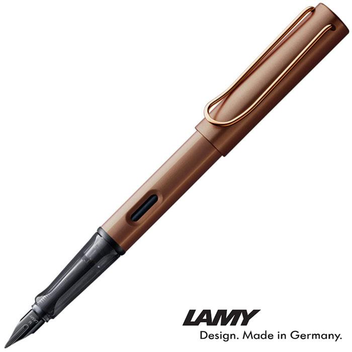 LAMY 万年筆 ルクス Lx マロン F アルミ素材とメタルパーツの組み合わせにより煌びやかで高級感溢れる雰囲気の筆記具