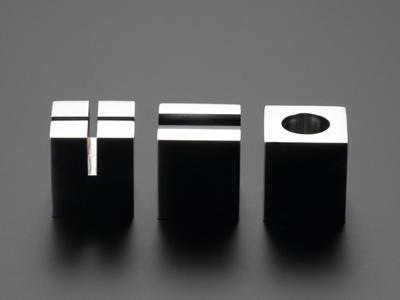 高級デスクアクセサリー 最高の品質を貴方に ステンレスを極めた PRIMARIO Vestige ペーパーウェイトキューブ(3個セット) PM12+13+14