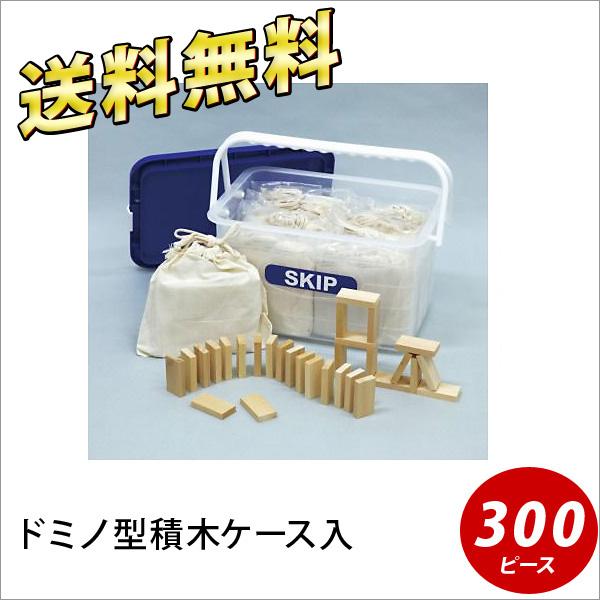 【お取寄】積み木 おもちゃ 子供 小学生 大人 玩具 指先 男の子 女の子 木製 ドミノ型積木ケース入 300ピース【メール便不可】