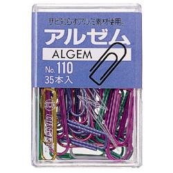 ※ラッピング ※ アルゼム カラーアルミゼムクリップ 特価 30mm アルミ製 35本入り メール便可 2 1 M便