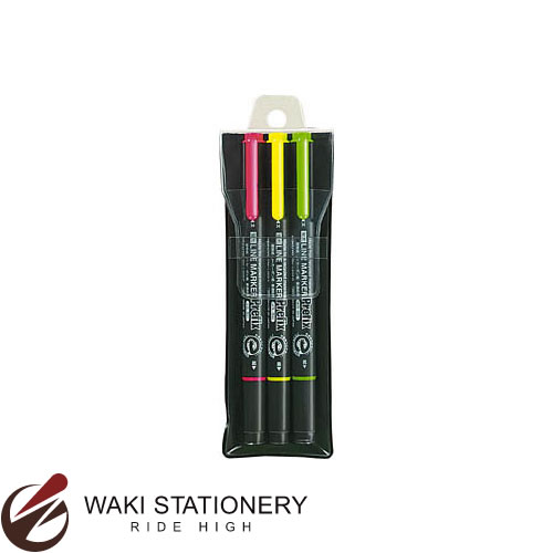 蛍光ペン 蛍光マーカー コクヨ 蛍光OAマーカー 再生樹脂 爆安プライス ツイン 3色セット オンラインショップ PM-L202-3S プリフィクス