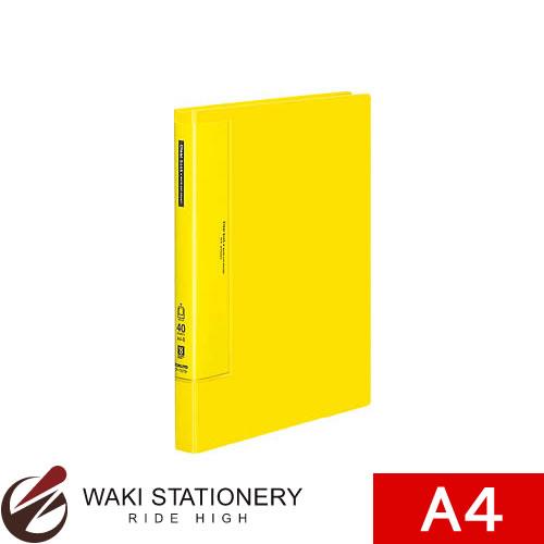 コクヨ 供え ファイル A4 セール開催中最短即日発送 クリヤーブック ウェーブカット 黄 ラ-T570Y 固定式 A4縦 40枚