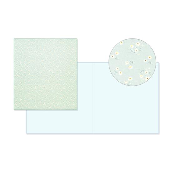 35%OFF ミドリ midori カラー色紙 二つ折り 大幅値下げランキング 花柄 ブルー デザイン文具