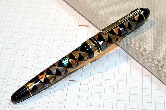 Platinum Ltd Brush PRESIDENT Luxury Kaga Raden Maki E Fountain Pen Scales  Crest