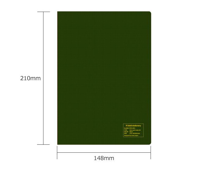 kleid クレイド 2mm方眼ノート 縦 A5サイズ 新日本カレンダー