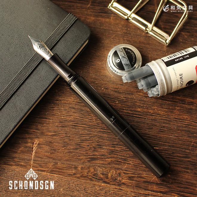 万年筆 ショーン・デザイン Schon DSGN ポケットシックス ブラックアルミニウム Pocket Six Black Aluminum