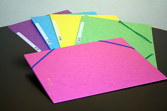 ファイル A4 国内正規品 エクザコンタ 即日出荷 EXACOMPTA デザイン文具 パステルカラー5色セット ゴム留め