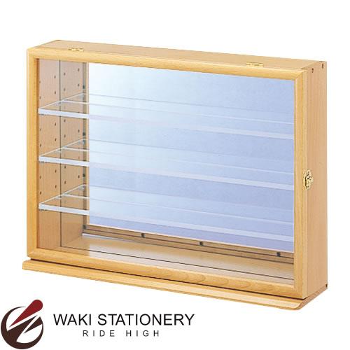 ナカバヤシ コレクションケース ワイド 透明アクリル棚板タイプ ナチュラル木目 CCM-202-NM