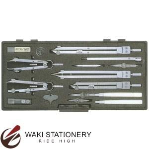 ドラパス 三幸製図 独式製図器セット 10本組18品 タイプ1 No.01-016