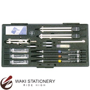 ドラパス 三幸製図 独式 S型製図器セット 10本組 19品 No.01-528