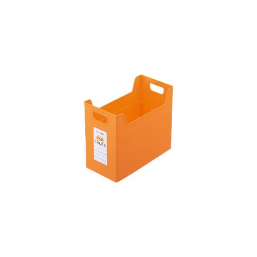 ナカバヤシ セラピーキッズカラー ファイルボックス A4ワイド キッズオレンジ フボ-TCW4-KO / 24セット