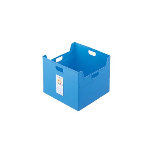 ナカバヤシ セラピーキッズカラー ファイルボックス A4ダブル キッズブルー フボ-TCW5-KB / 12セット