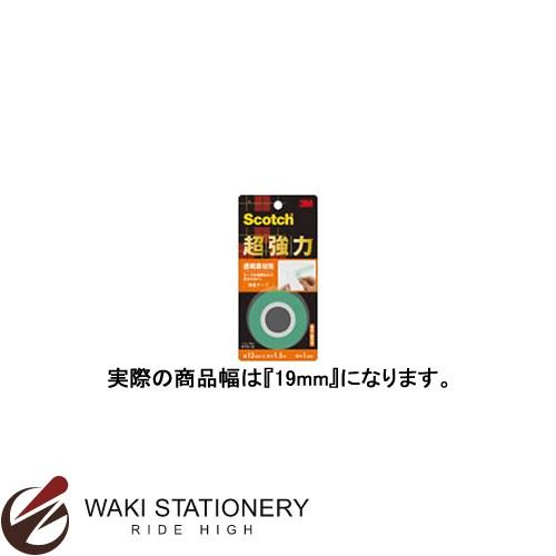 スリーエム [スコッチ / Scotch] 超強力両面テープ [透明素材用] 19mm×1.5m KTD-19 / 60セット