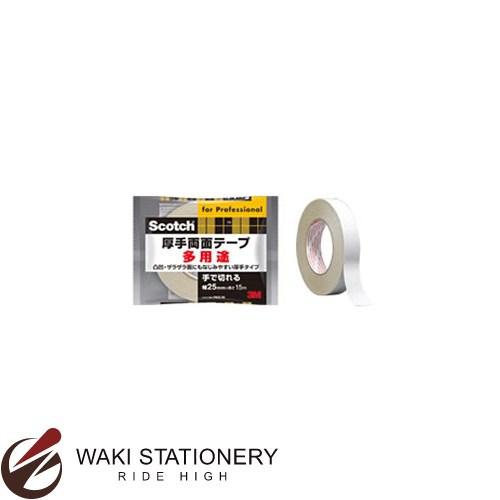 スリーエム [スコッチ / Scotch] 厚手両面テープ 業務用 [汎用] 幅25mm 厚み0.5mm PAD-25 / 36セット