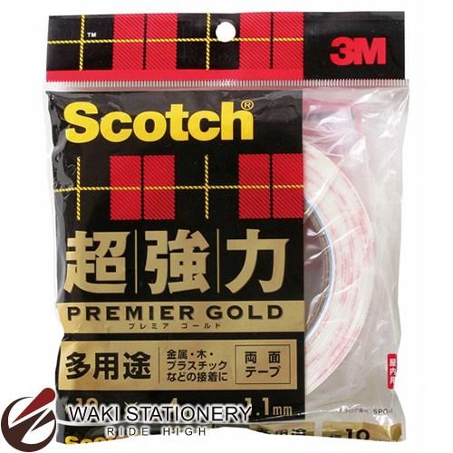 スリーエム [スコッチ / Scotch] 超強力両面テープ プレミアゴールド [多用途] 19mm×4m SPG-19 / 10セット