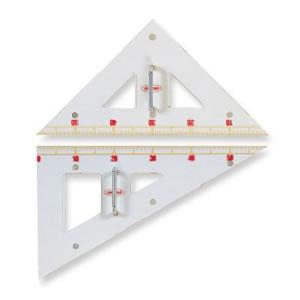 共栄プラスチック メタクリル教師用三角定規 クリア GN-120