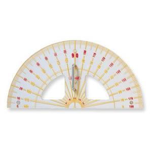 共栄プラスチック メタクリル教師用分度器 クリア GN-100