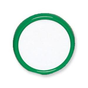 共栄プラスチック プラスチック丸型名札 大 グリーン MA-3-G / 50セット