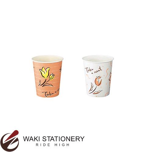 コクヨ 給茶器用 紙コップ 花柄 156ml 3000個入り J-SM-150F