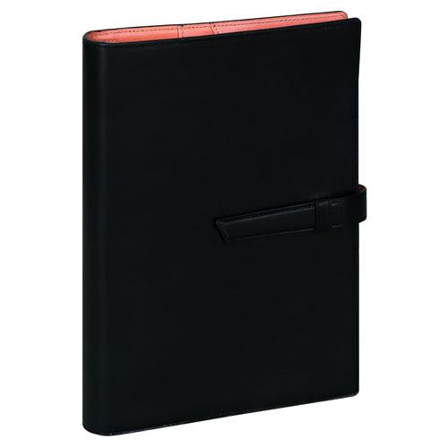 レイメイ藤井 ダ・ヴィンチ グランデ アースレザー システム手帳 A5リング25mm ブラック DSA1702B