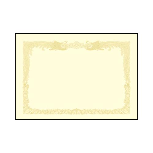 ササガワ [タカ印] 厚口OA賞状用紙 B4判 縦書用 10枚入 クリーム 10-1277 [10-127] / 10セット