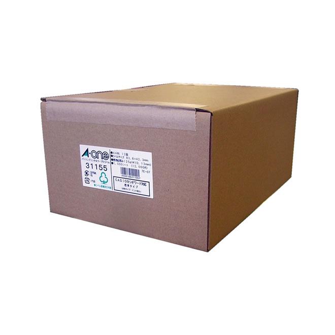 エーワン A-One パソコンプリンタ&ワープロラベルシール[プリンタ兼用] 1000シート(12000片) A4 汎用タイプ・インチ改行 ホワイト 31155