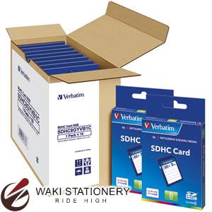 三菱化学メディア バーベイタム SDHCメモリーカード クラス4 10枚入 8GB SDHC8GYVB1C