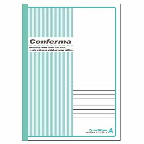 アピカ コンフェルマ パックノート 3冊組 セミB5 A罫 RA3X3N / 52セット