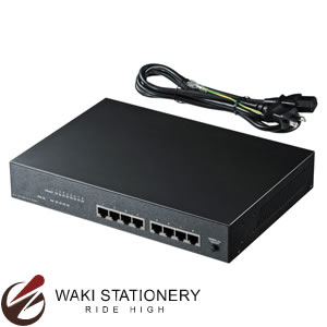 サンワサプライ PoE対応スイッチングHUB(4ポート通常ポート+4ポートPoE対応) LAN-SWHPOE44 LAN-SWHPOE44