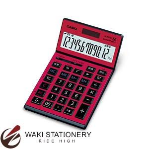 カシオ ジャスト型電卓 12桁 赤 JS-201SK-RD-N