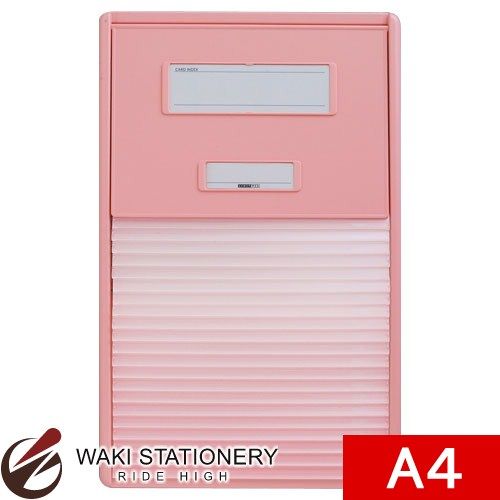 リヒトラブ カラーカードインデックス A4 21ポケット ピンク HC112C-4