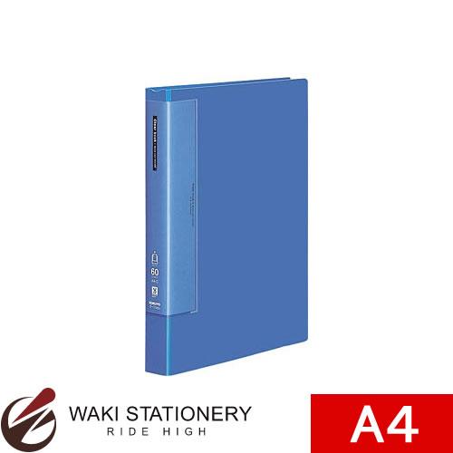 コクヨ ファイル 奉呈 定価の67%OFF A4 クリヤーブック ウェーブカット 60枚 青 A4縦 固定式 ラ-T585B